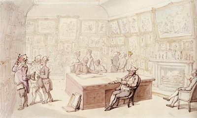 Rowlandson Thomas Mr Michells Picture Gallery At Grove House Enfield