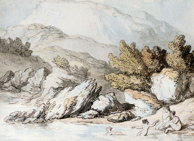Rowlandson Thomas Nymphs Bathing