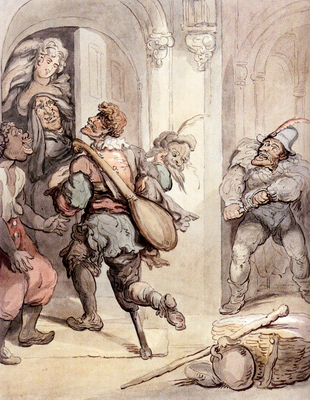 Rowlandson Thomas Travelling Players