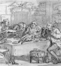 ROWLANDSON Thomas The Fish Dinner
