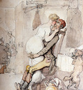 Rowlandson Thomas A Kiss In The Kitchen