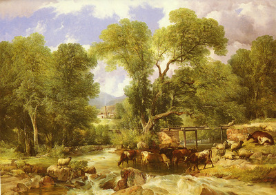 Cooper Thomas Sidney A Wooded Ford