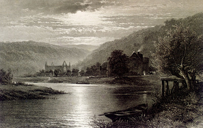 Leader Benjamin Williams Tintern Abbey Moonlight On The Wye