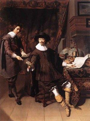 KEYSER Thomas de Constantijn Huygens And His Clerk