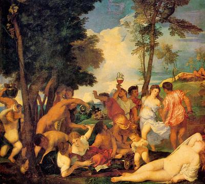 titian bacchanal 1523