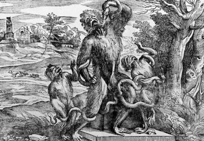 titian caricature of the laokoon group 1543