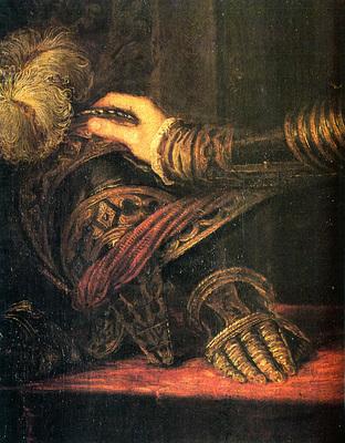 Titian Philipp II as Prince 1550 51 detail