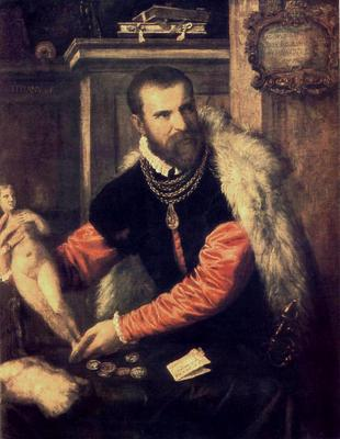 Titian Portrait of Jacopo Strada