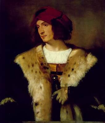 Titian Portrait of a Man in a Red Cap