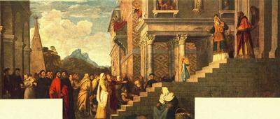 Titian Presentation of the Virgin at the Temple