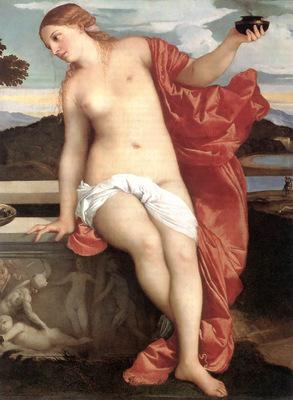 Titian Sacred and Profane Love detail1