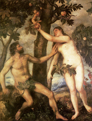 titian the fall of man 1565