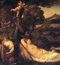 Titian Jupiter and Anthiope Pardo Venus