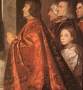 Titian Madonna with Saints and Members of the Pesaro Family detail1