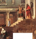 Titian Presentation of the Virgin at the Temple detail1