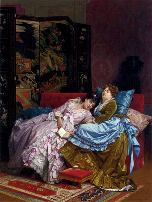 Toulmouche Auguste An Afternoon Idyll