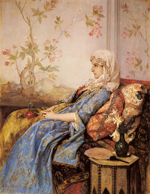 Toulmouche Auguste An Exotic Beauty In An Interior