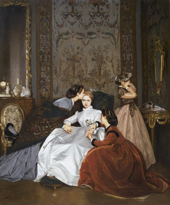 Toulmouche Auguste La Fiancee Hesitante