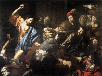 VALENTIN DE BOULOGNE Christ Driving The Money Changers Out Of The Temple
