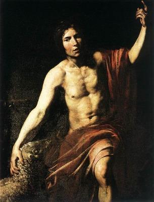 VALENTIN DE BOULOGNE St John The Baptist