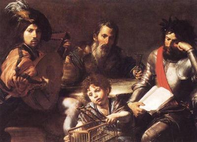 VALENTIN DE BOULOGNE The Four Ages Of man