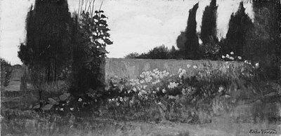 Vedder Elihu Cypress And Poppies
