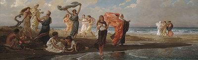 Vedder Elihu Greek Girls Bathing
