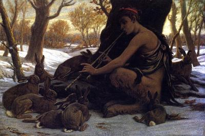 Vedder Elihu Marsyas Enchanting the Hares