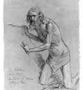 Vedder Elihu Study For The Question Of The Sphinx