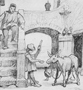 vedder elihu the fable of the miller his son and the donkey no