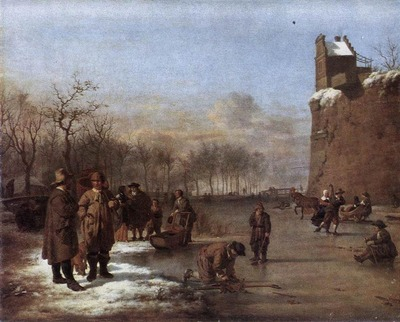 VELDE Adriaen van de Amusement On The Ice