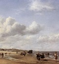 VELDE Adriaen van de The Beach At Scheveningen