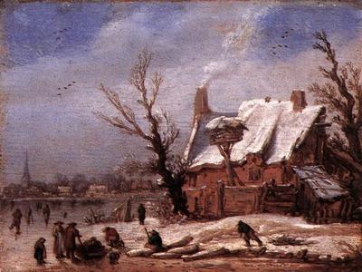velde esaias van de winter landscape