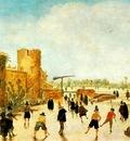 VELDE Esaias van de The Joy Of Ice On The Wallgraben