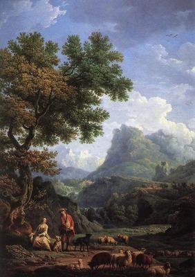 VERNET Claude Joseph Shepherd In The Alps