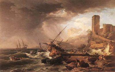 VERNET Claude Joseph Storm With A Shipwreck