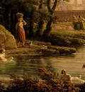 Vernet Claude Joseph Landscape With Bathers detail