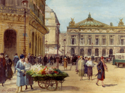 Gilbert Victor Gabriel The Flower Seller Place De L Opera Paris