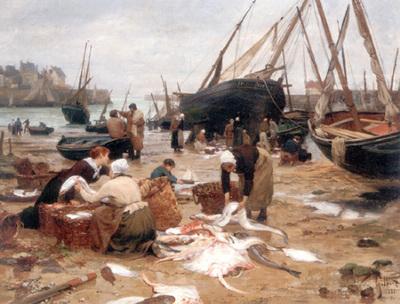 Gilbert Victor Sorting the Fish