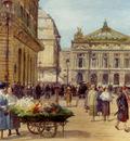 Gilbert Victor Gabriel The Flower Seller Place De L Opera Paris
