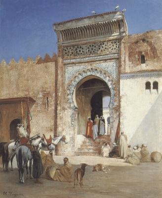 Arabs Outside the Mosque
