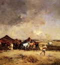 Huguet Victor Arab Encampment