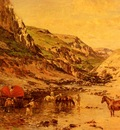 Huguet Victor Pierre Arabs Resting In A Gorge