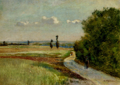 Vignon Victor Alfred Paul A Path In A Pastoral Landscape