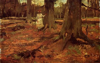Van Gogh Vincent A Girl in White in the Woods