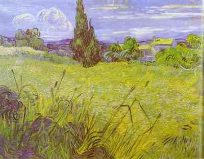 Van Gogh Vincent Green Wheat Field with Cypress  Saint Remy