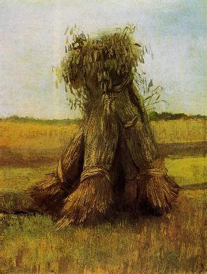 Van Gogh Vincent Sheaves of Wheat in a Field