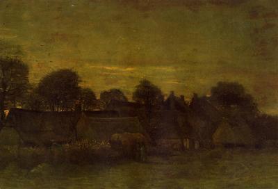 Van Gogh Vincent Village at Sunset