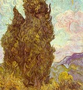 Van Gogh Two Cypresses