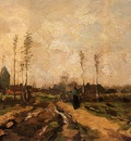 Van Gogh Vincent Landscape with Church and Farms